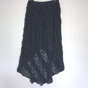 Willow & Clay High Low Stretch Lace Boho Skirt